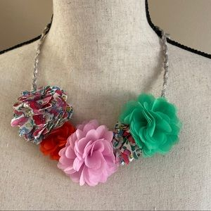 NWOT Mini Boden Multi Fabric Necklace